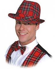 Schottenhut Zubehör Karohut Partyhut Faschingshut Kopfbedeckung Fastna
