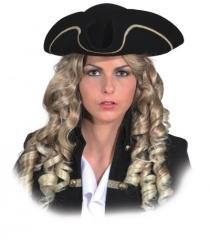 Dreispitz Piratenhut Kopfbedeckung Zubehör Seeräuber Faschingsparty