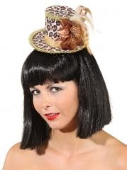 Minihut Leo Damenhut Accessoires Feier Partyhut Karneval