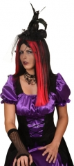 Minihut schwarze Hexe Accessoires Damenhut Halloween Party Fasch