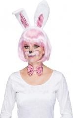 Hasenohren Hase Bunny Set de Luxe Karneval Fasching