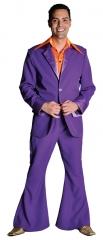70er 80er Jahre Travolta Partyanzug lila Schlagerparty