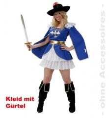 Aramea Kleid Damenkostüm Ahnen Faschingskostüm Musketier Karneval