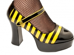 Schuhe Biene Damenschuhe Faschingsschuhe Accessoires Zubehör Mottopart