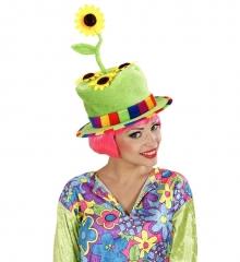 Hippie Hippiehut Sonnenblume Gärtnerhut Vogelscheuche Blumenhut