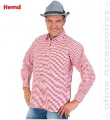 Trachtenhemd karriertes Hemd Oktoberfest Trachtenmode auch Übergröße