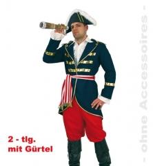 Lord Nelson Faschingskostüm Herrenverkleidung Pirat Seeräuber Fasnacht