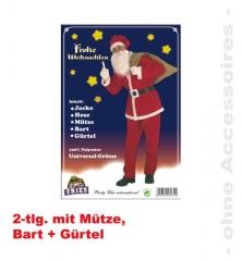 Nikolaus Weihnachtsmann Kostüm Komplett