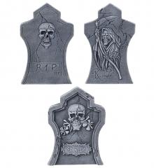 3 Grabsteine im Set in unterschiedlichen Größen Halloweendekoration