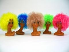 Struwel Punk Disco Perücke viele Farben Karneval Fasching Party
