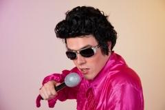Rockstar Perücke schwarz Karneval Fasching Mottoparty