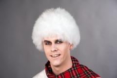 Perücke Schneemann weiß Karneval Fasching Accessoires