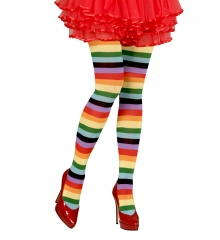 Rainbow Regenbogen Strümpfe Pantyhose halterlos Einhorn Zubehör 75 den Einheitsgröße M/L