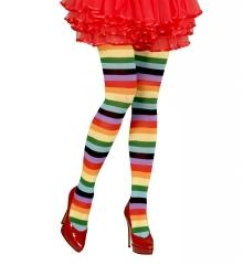 Rainbow Regenbogen Strümpfe Pantyhose halterlos Einhorn Zubehör 75 den XL