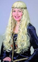 Mittelalter Burgfräulein Renaissance Perücke Karneval