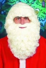Weihnachtsmann Nikolaus Bart weiß oder naturfarben