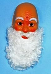 Nikolausmaske Nikolaus Weihnachtsmannmaske mit Bart Santa Claus