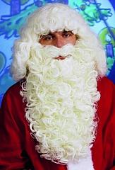 Nikolaus Weihnachtsmann Santa Claus Rauschebart mit Perücke