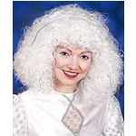 Engelperücke Engel Christkind Engelshaar weiß-silber oder weiß-gold