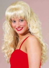 Langhaarperücke Estelle blond od. schwarz Partyzubehör
