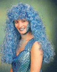 Meerjungfrau Wassernixe Perücke Karneval Fasching Party
