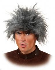 Neandertaler Urwald Steinzeitmensch wilder Mann Perücke grau