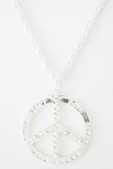 Kette Peace Faschingskette Zubehör Accessoires Love Hippiekette