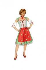 Dirndl Herz Trachtenkleid Oktoberfest Karneval Fasching Kostüm Party
