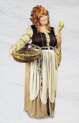 Freifrau Mittelalter Magd Baronne Baronin Damen Kostüm bis Gr. 52-54