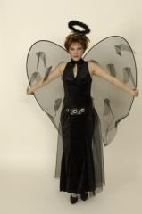 Dark Angel schwarzer Engel Gothic Kostüm Halloweenkostüm 36 38