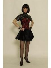 Petticoat Kleid Punker Rocker Gothic Vamp 42 / 44