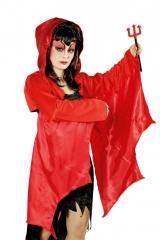Teufel Dämon Teufelsflügel Dämonenflügel Jacke mit Kapuze und Flügeln