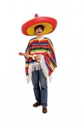Poncho Mexikaner Umhang tolle Qualität Western Siesta