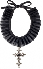 Halsband mit Gothickreuz Halloween Zubehör Schmuck Kette Accessoires