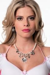 Trachtenkette Trachtenschmuck Oktoberfest Edelweiss Perlenkette