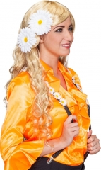 Hippie Flower Power Margeriten Blumen mit Clips 2er Set