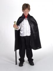 Umhang Zwart, Kinderkostüm, Dracula, Fasching, Karneval