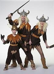 Wikinger Kostüm Kinder Gr. 128 Karneval Fasching Kostüm