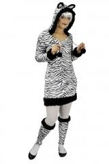 Zebra Zebrakleid Zebrakostüm Zootier Größe 34 bis 46