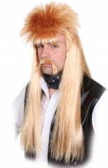Manni Perücke mit Bart Karnevalsperücke Mantafahrer Vokuhila