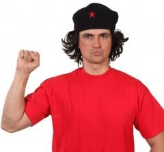 Ernesto Mütze mit Haaren Mütze mit rotem Stern Revolutionär
