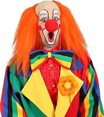 Clown Clownglatze Clownperücke Zirkus Manege 3 Farben orange rot gelb