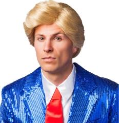 Herrenperücke Männerfrisur blond Donald Präsident Fönfrisur Karneval