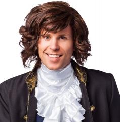 Herrenperücke Prinz Charming braun meliert Kostüm Märchen Perücke