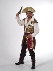 Pirat Piratenkostüm Gold Top Qualität Fasching Karneval XL