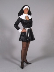 Sexy Nonne Ordensschwester Karneval Fasching Mottoparty