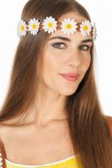 Hippiehaarband Haarband Gänseblümchen Margariten 70er Blumenkranz