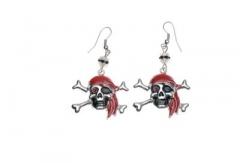 Ohrringe Spinne Skelett Pirat Strass Fasching Karneval
