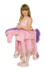 Pferd Pferdekostüm Pony rosa  Kinderreittier Pferd Prinzessin