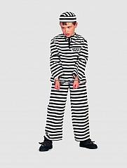 Sträfling Gefangener Knacki Kinderkostüm Kinderfasching
